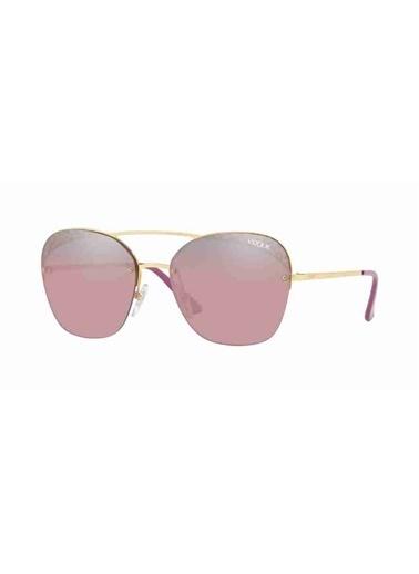 Vogue Vogue 4104S 280/7A 57 Ekartman Kadın Güneş Gözlüğü Altın